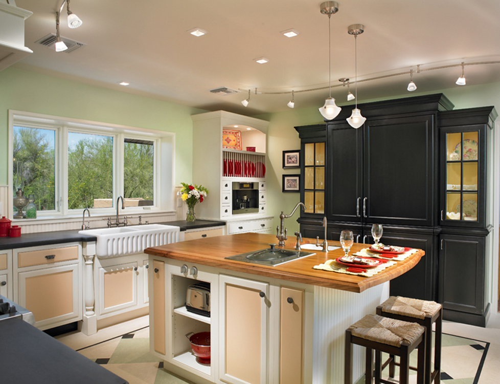Various sources of lighting are important in our high use kitchens.