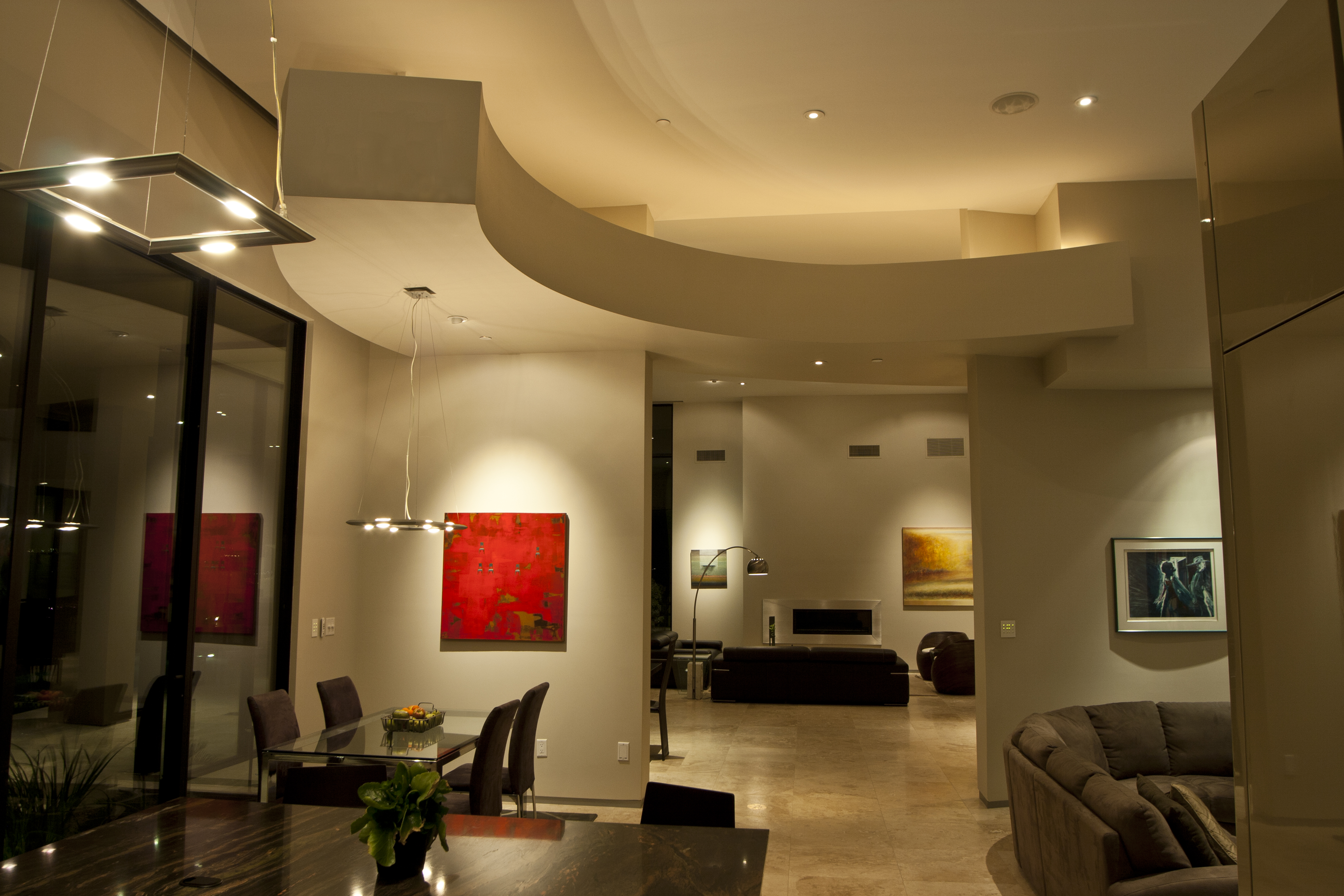 Custom interior lighting to evoke emotion and drama.