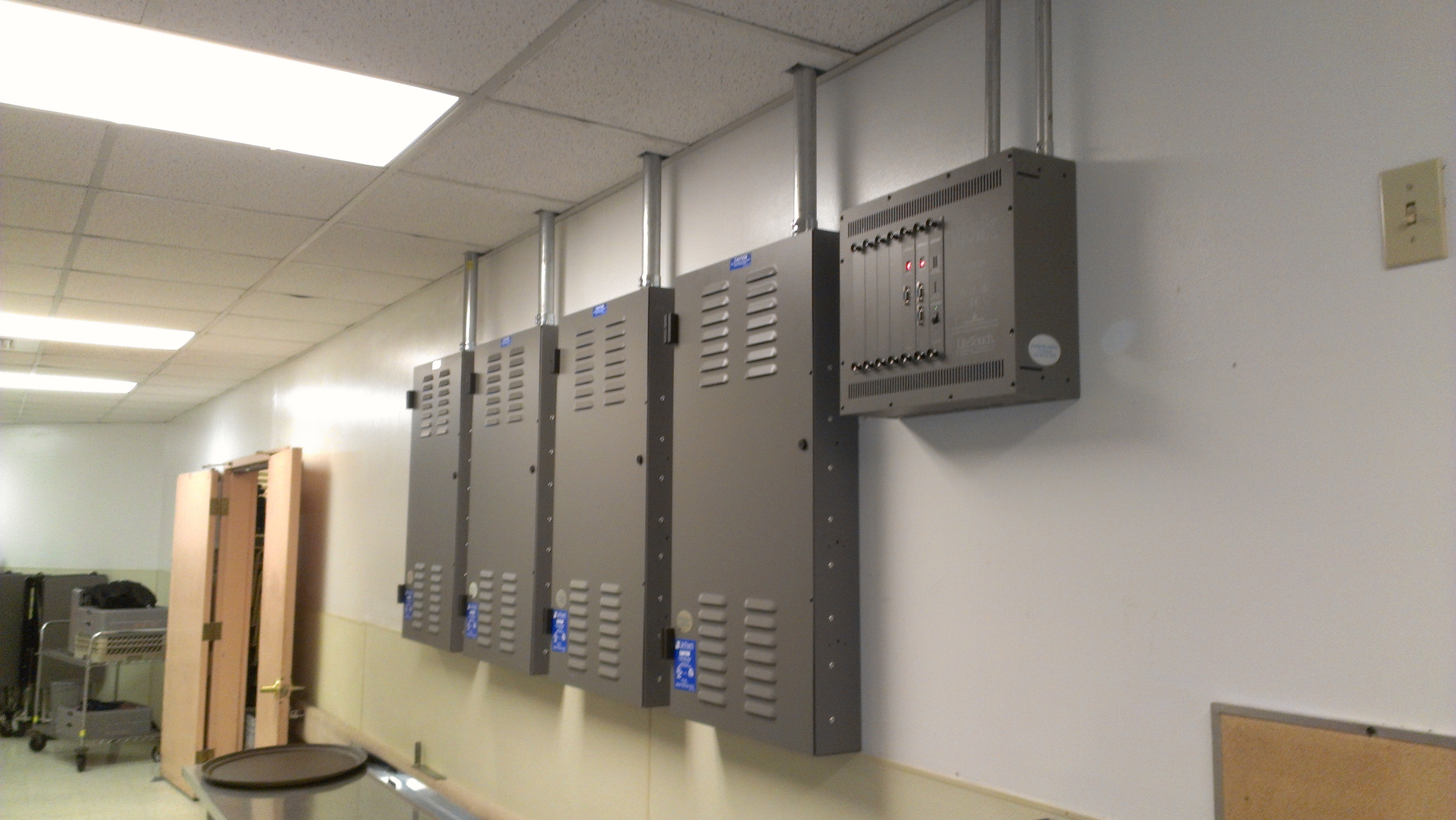 Industry leading wall control panels are the headquarters for hardware and software options.